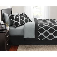 Mainstays Geometric Bed in a Bag Bedding Set - Walmart.com
