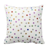 Trendy Colorful Dots Pattern Pillow