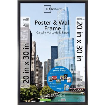 Mainstays 20x30 Trendsetter Poster and Picture Frame, Matte Black - Walmart.com