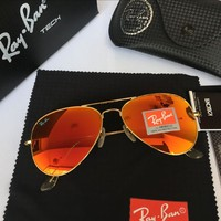 Ray Ban Aviator Sunglass Gold Orange Gradient RB 3025