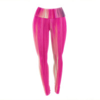 "Ebi Emporium ""Irradiated Fuchsia"" Magenta Pink Yoga Leggings"