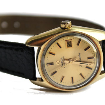 Vintage Ladies Date 1970s Omega Seamaster Automatic Functional Swiss Wrist Watch