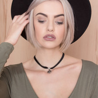 Choked By Roses Black Chocker Necklace