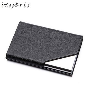 RFID Aluminum and Leather Business ID Credit Card Holder For Women & Men Travel Gear