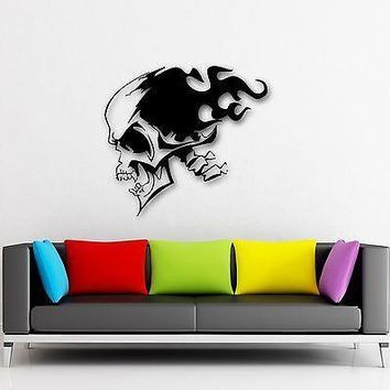 Wall Stickers Vinyl Decal Death Skull Tattoo Dead Coolest Room Decor Unique Gift (ig684)