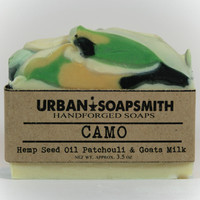 Camo- Hemp Goats Milk Soap - Homemade soap, Cold Process Soap, Goatsmilk Soap, Natural Soap, Hemp Soap, Men's Soap, Unisex Soap