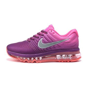 NIKE AirMax Trending Women Personality Sports Air Cushion Running Shoes Sneakers Purple Pink Orange I