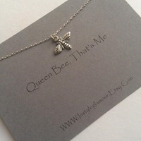 Bee Necklace, Silver Bee Necklace, Insect Jewellery, Dainty Necklace, Birthday Gift, Christmas Gift