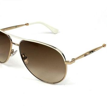 ONETOW Jimmy Choo Jewly/s Gold Sunglasses
