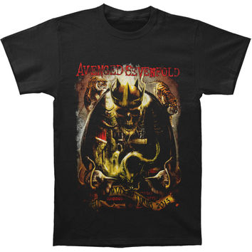 Avenged Sevenfold Men's  King Slim Fit T-shirt Black Rockabilia