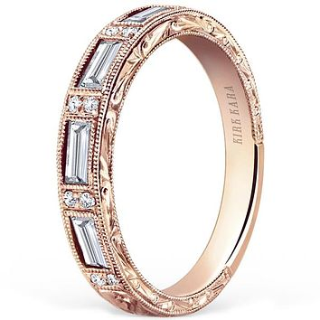"Kirk Kara ""Charlotte"" Diamond Baguette Wedding Band"