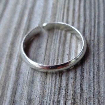 Plain Toe,Knuckle,Midi Ring 925 Sterling Silver Minimal Rounded 2mm