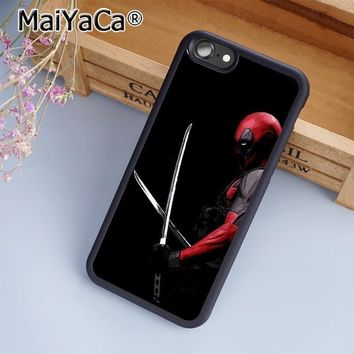 Deadpool Dead pool Taco MaiYaCa  Superhero Movie Marvel Comic Phone Case Cover for iPhone 5 5s 6 6s 7 8 Plus X case for samsung S7 S8 edge Plus AT_70_6