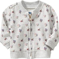 Old Navy Flower Print Bomber Jacket For Baby