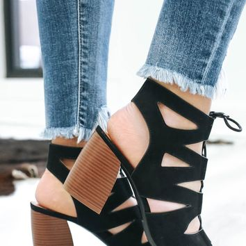Tied Up Booties - Black
