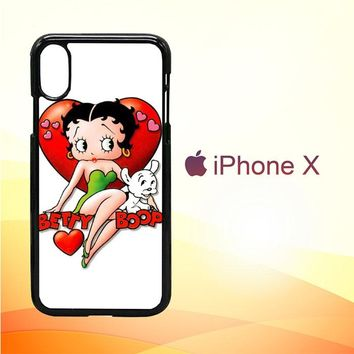 Betty Boop And Pudgy Y0058 iPhone X Case