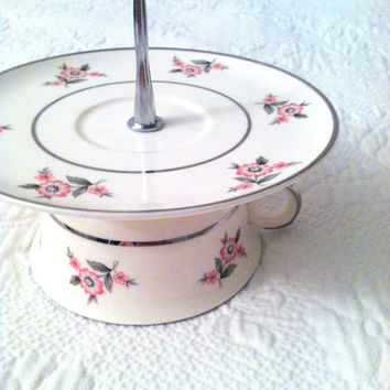 Vintage Cup and Saucer High Tea Dessert, Cake or Cupcake Stand/Wedding, Princess, Birthday or Tea Party Centerpiece/Jewelry Organizer