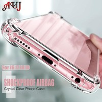 AUJ Crystal Clear Cases for iPhone 6 6s 7 8 Plus Case Transparent Silicone Soft TPU Bumper Hard Plastic Back Cover for iPhone X