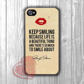 Marilyn Monroe Quote Vintage Kiss Mark - Fzia for iPhone 4/4S/5/5S/5C/6/ 6+,samsung S3/S4/S5,samsung note 3/4