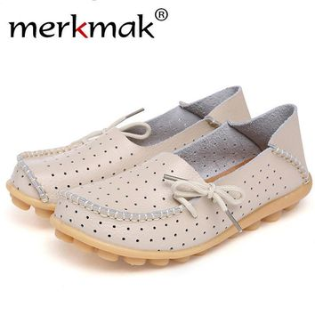 Merkmak Cow Leather Women Shoes New Driving Casual Footwear Moccasins Loafers Soft Leisure Flats Female Candy Color Sapato Mujer