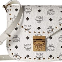MCM Womens Patricia Studded Outline Visetos Small Shoulder