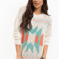 Aztec Print Pullover Sweater $43