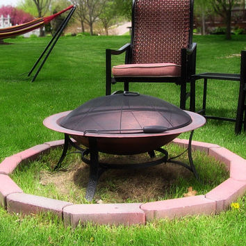 Cast Iron Bowl Fire Pit with Copper Finish by Sunnydaze