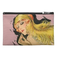 Classy Feather Dame Travel Accessory Bag