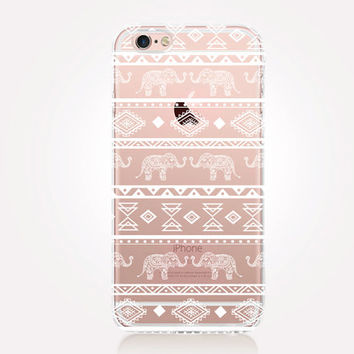 Transparent Tribal iPhone Case - Transparent Case - Clear Case - Transparent iPhone 6 - Gel Case - Soft TPU Case - Samsung S7
