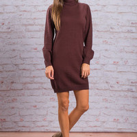 This And That Sweater Dress, Burgundy