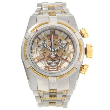 Invicta 14427 Men's Jason Taylor Reserve Gold Tone Bezel Skeleton Dial Chronograph Dive Watch