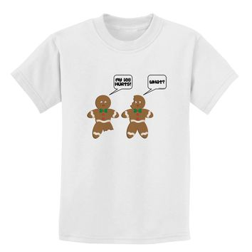 Funny Gingerbread Conversation Christmas Childrens T-Shirt