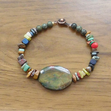 """Hippie Mens Bracelet Womens Beach Anklet 8 """" Sundance Surfer Style Bohemian Gypsy Jewelry Boho Rustic Beads Southwest Cowgirl Glam Indie"""