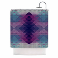 "Nika Martinez ""Hipsterland II"" Purple Teal Shower Curtain"