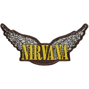 Nirvana Men's Wings Embroidered Patch Brown