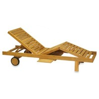 Teak Chaise Lounge Chair
