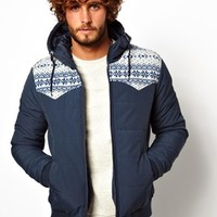 ASOS Quilted Jacket - Blue