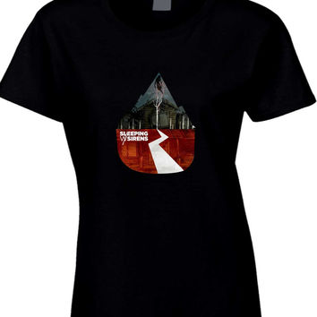 Sleeping With Sirens Crop Cover Womens T Shirt