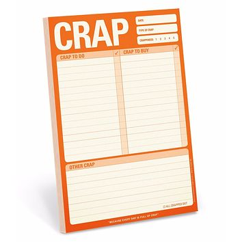 Crap To Do, Crap to Buy, Other Crap Notepad in Burnt Orange