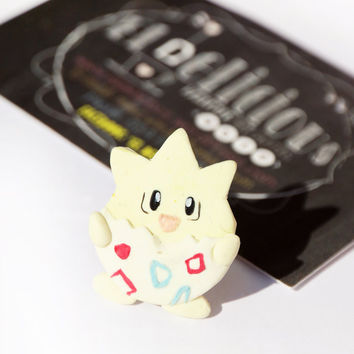 Polymer clay/Fimo Togepi Pokémon Ring - Pokémon Kawaii - Handmade creations / Free shipping