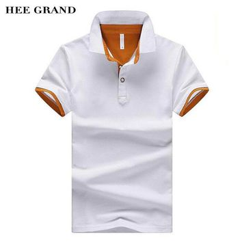 HEE GRAND 2017 New Arrival Men Summer Polo Shirt Turn-Down Collar Cotton Breathable Ma