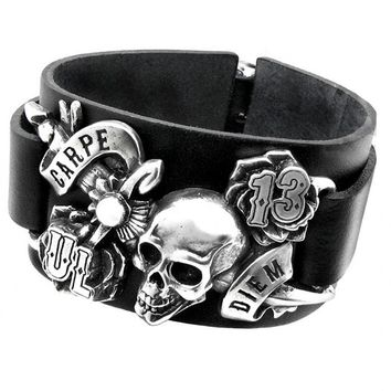 Carpe Diem Leather Bracelet