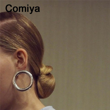 Comiya brand golden silver plated stud earrings boucle d'oreille women accessories online shopping india earring bijoux femme