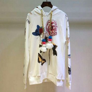 DCCKN6V GUCCI flower rose print sweater hoodie pullover