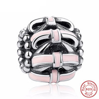 OPENWORK BOW Bead / Charm 925 Sterling Silver Authentic fit Pandora Bracelet