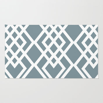 Geometric Triangles Area & Throw Rug by Ashley Hillman