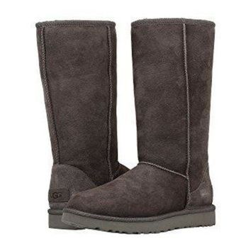 """UGG"" Winter Fashion Women Male High Tops Warm Wool Snow Boots I/A"