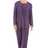Women's Long Sleeve Pajama Set (Tranquility) Eco-Friendly Apparel by Texere