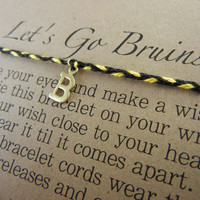 Boston Bruins Inspired Wish Bracelet