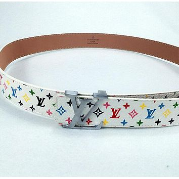 LOUIS VUITTON FASHION COLORFUL MALE/FEMALE BELTS SILV